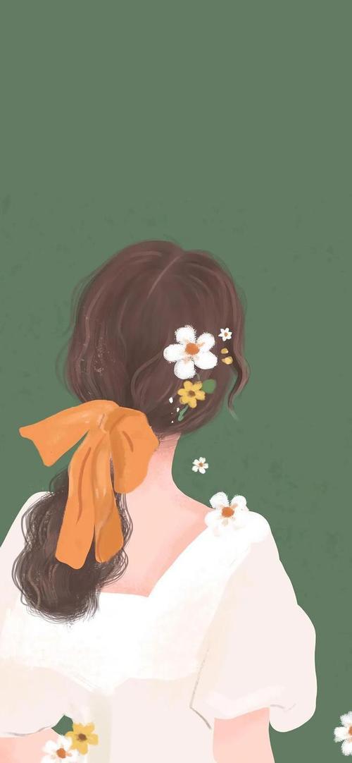 超温柔的女生背影壁纸