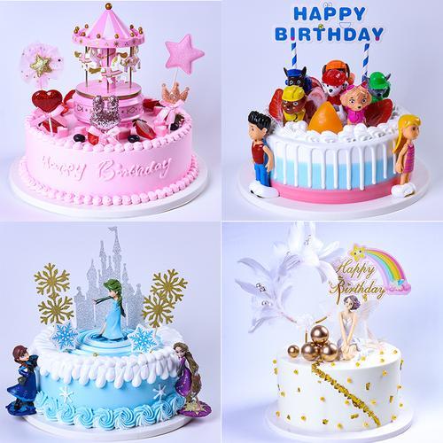 仿真蛋糕模型 新款创意卡通生日蛋糕模型 假蛋糕模型