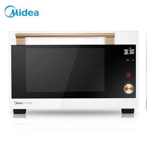 美的(midea)家用多功能智能电烤箱t7-l421f专业烘焙达人内置食谱触控