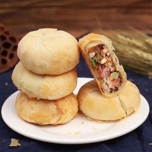 苏式酥皮月饼五仁月饼老式多口味豆沙酥饼传统糕点心h2q47j 24个装