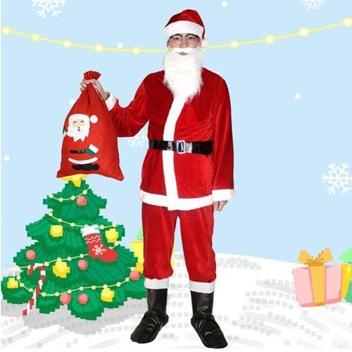 圣诞老人服装服饰儿童圣诞节衣服女装套装成人男士老