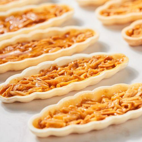 黄百吉防风林糯米船饼壳北海道焦糖杏仁片酥脆半成品