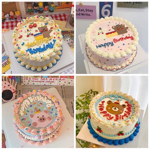 手绘卡通系列 · 奶油蛋糕「7215采用食用色素手工调色, 或有色差