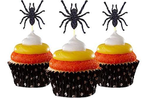 蜘蛛 蛋糕装饰 白色 12 只装纸杯蛋糕装饰 蛋糕毕业